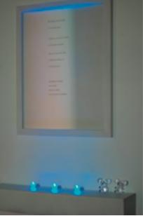 Centro Cultural España-Córdoba. Instalación Cuatro visitas de Claudia Santanera. 2008.